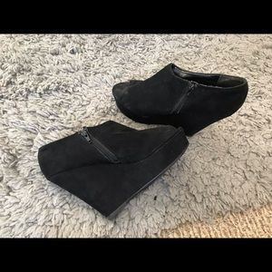 Mossimo Black Wedges Peep Toe